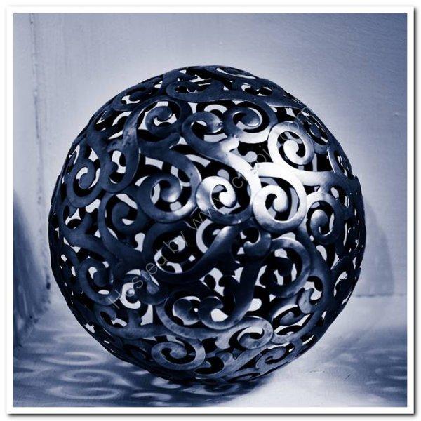 Ornamental brass sphere