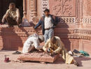 Taj Mahal restoration work