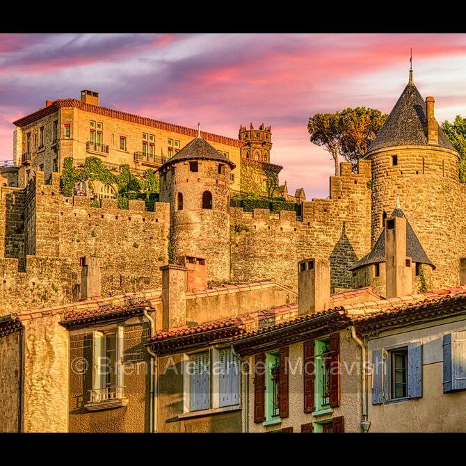 Above the Barbacane Quarter of Carcassonne