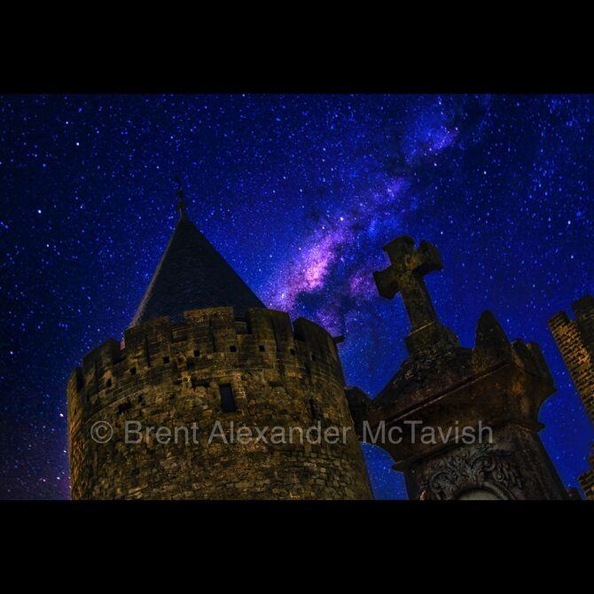 Carcassonne Graveyard Under the Stars