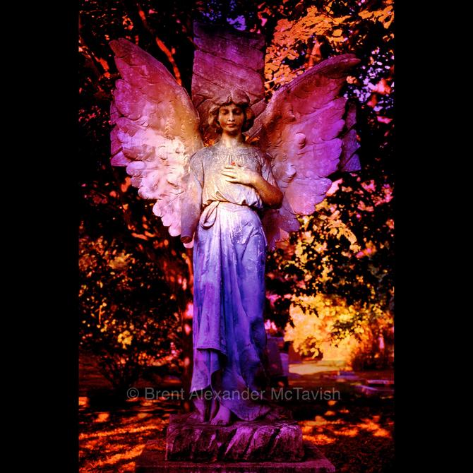 Purple Cemetery Angel