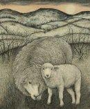 Lamb at Cefn Gafros
