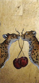Two Cheetah's Two Cherries