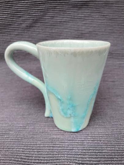 Flower mug cup I, aqua