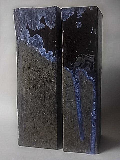 black square vases