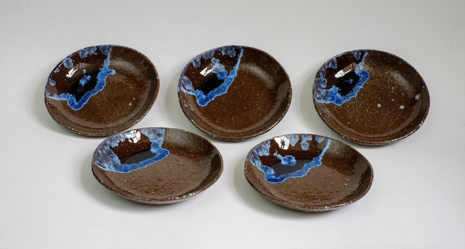deep blue dishes