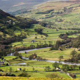 River valley, Swaledale, Yorkshire Dales, England