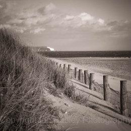 Hengistbury Head towards the Needles, Dorset, England