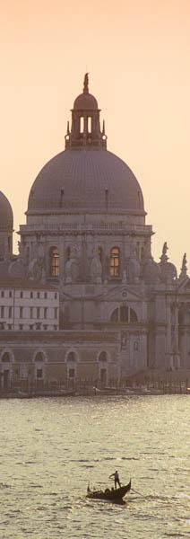 Gondola in teh Grande Canale, Venice, Italy