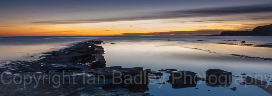 Kimmeridge sundown, Dorset, England
