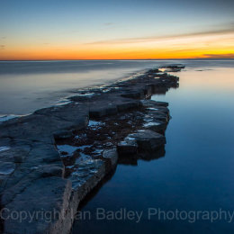 Kimmeridge at twilight, Dorset, England