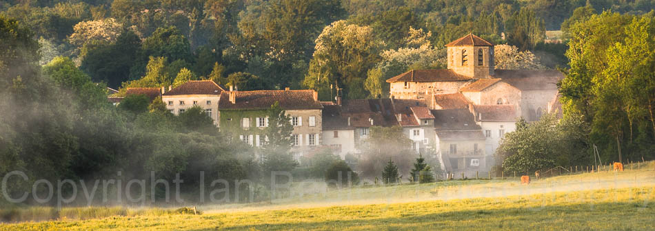 Misty morning in the Perigord National Park, France