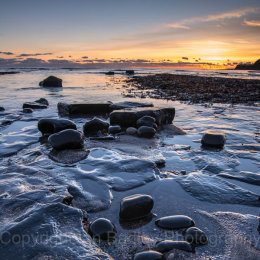Kimmeridge winter sunset, Dorset, England
