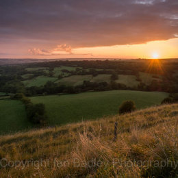 Sunrise over mid Dorset, England