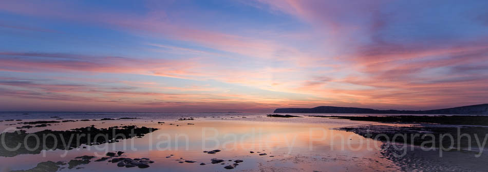 Compton Bay at twilight, Isle of  Wight, England