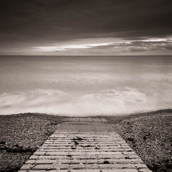 Slipway into the sea, Freshwater, Isle of Wight, England