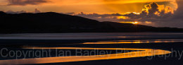 Low tide at sunset on the Isle of Harris, Hebrides, Scotland