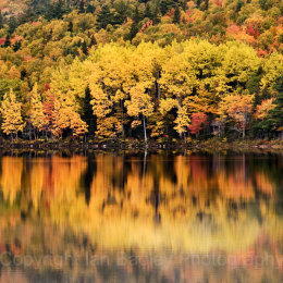 Autumn colour reflections, Cape Breton, Nova Scotia, Canada