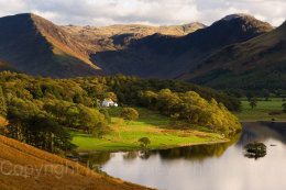 View over Crummock Water, Haystacks and Fleetwith Pike, Lake District National Park, Cumbria, England