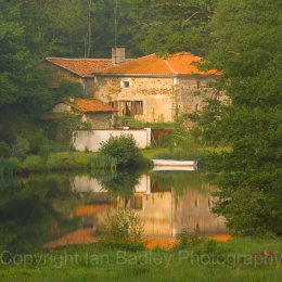 Morning mist on a river in Charente Maritime, France