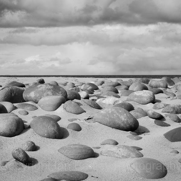 Round rocks on Red Point Beach, Gairloch, Scotland Highlands