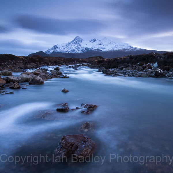 Water, Rocks and Cuillins, a long exposure over the River Sligachan and Cuillins, Isle of Skye, Scotland