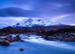 Long exposure over the River Sligachan and Cuillins, Isle of Skye, Scotland