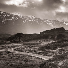 3047 Winding road in the Highlands of scotland