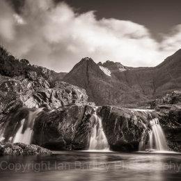Three waterfalls at the Fairy Pools, Isle of Skye, Scotland
