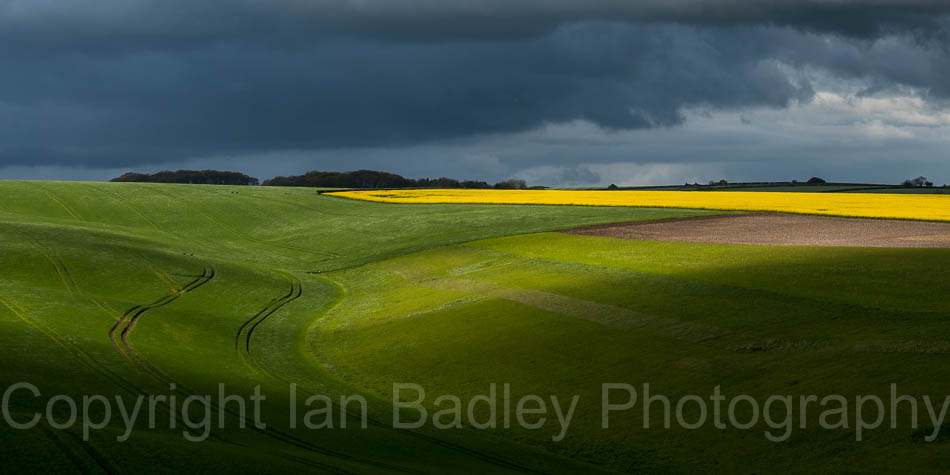 Storm clouds over the fields, Dorset, England