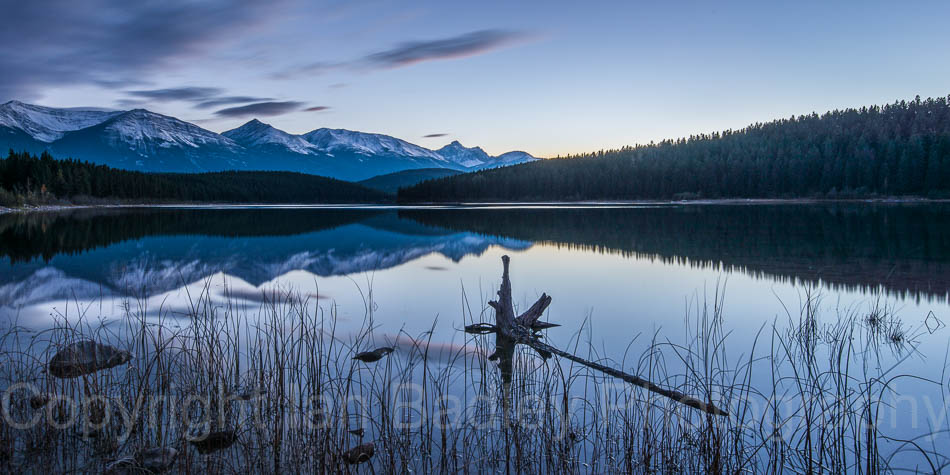 Twilight dawn in Jasper National Park, Canada