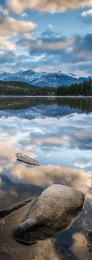Canada, Jasper National Park,  Pyramid Lake Reflections