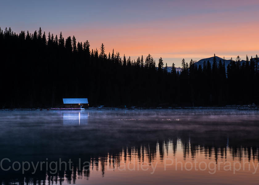 Before dawn on Lake Louise, Banff National Park, Canada