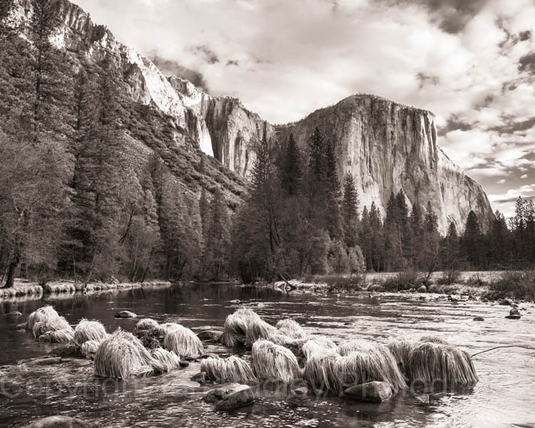 El Capitan over Merced River, Yosemite National Park, California, USA