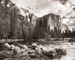 El Capitan over Merced River, Yosemite National Park, California, USA