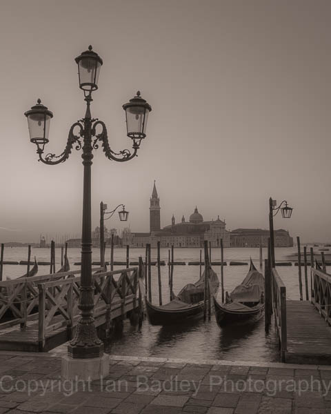Italy, Venice, Dawn over San Georgio