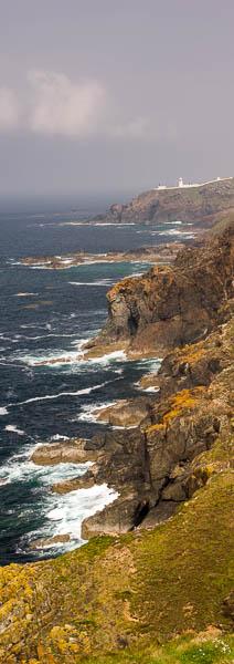 Rough sea on the north Cornwall coast, England