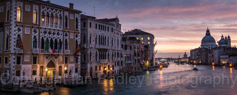 Italy, Venice, Dawn over the Grand Canal