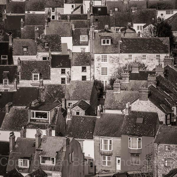 Portland rooves, Dorset, England