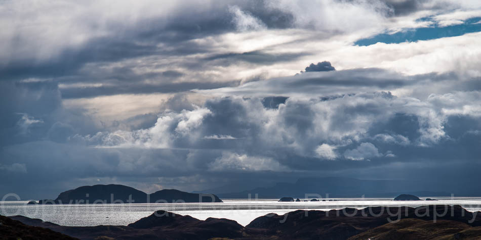 Passing storm over the Minch, Hebrides, Scotland