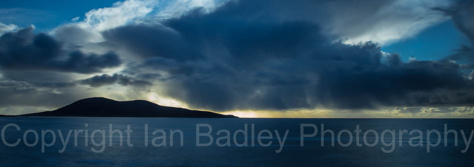 Storm clouds over the Minch sea, Hebrides, Scotland