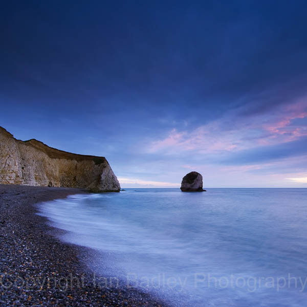 Freshwater bay at dusk, Isle of Wight, England