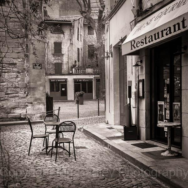 Cafe in Avignon, France