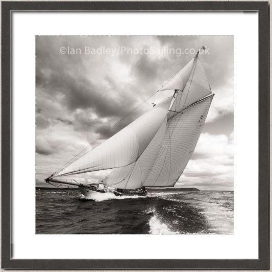 Mariquita off Falmouth Black and White