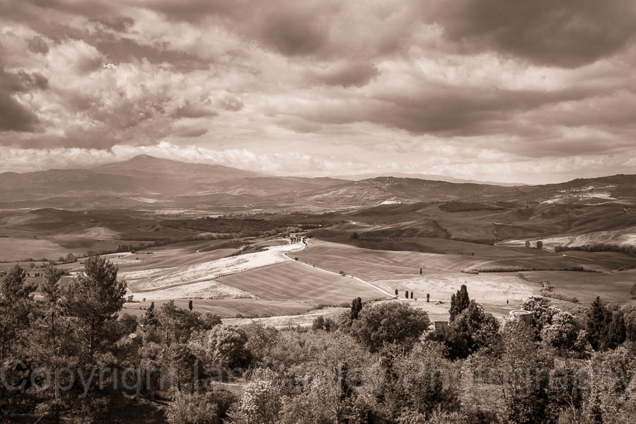 View over UNESCO Val d'Orcia, Tuscany, Italy