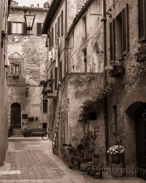 Street scene in Orcia, Tuscany, Italy