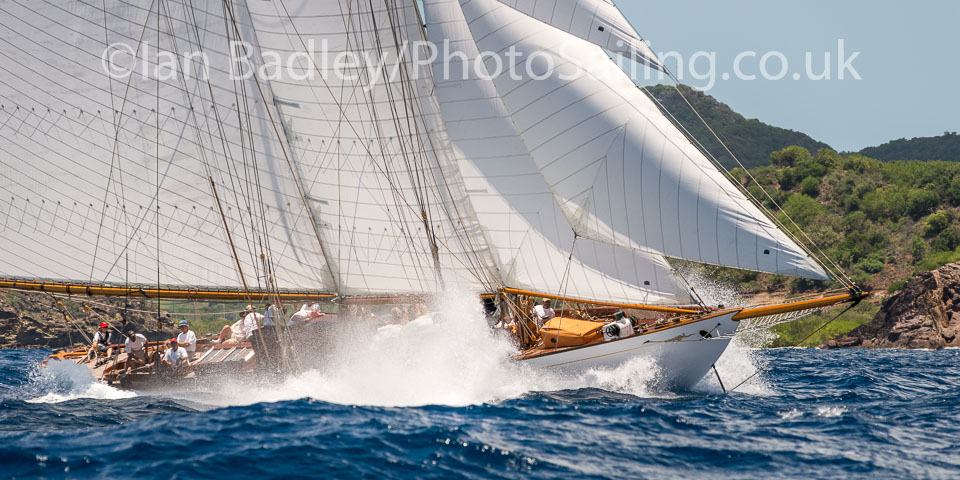 Classic yacht in the Caribbean