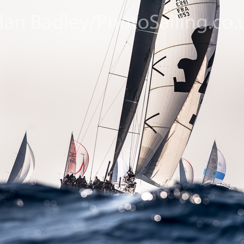 Wally class racing at the Voiles de Saint Tropez