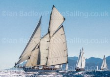 Classic yachts in the Med'  Canvas Gallery Block - from £99