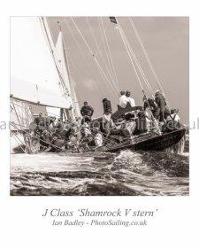 J Class 'Shamrock V' stern